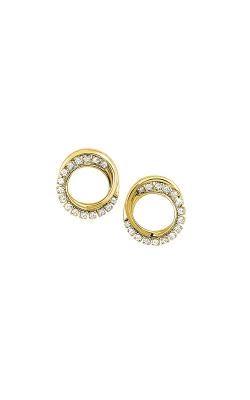 Albert's 14k Yellow Gold 1/6ct Diamond Circle Earrings ER24870-1YD product image