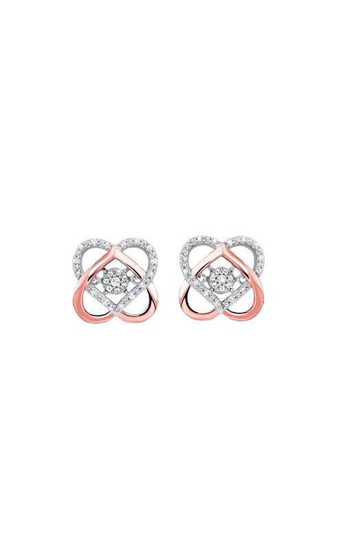 Albert's White and Rose Gold 1/10ctw Diamond Earrings ER29995-1WPD product image