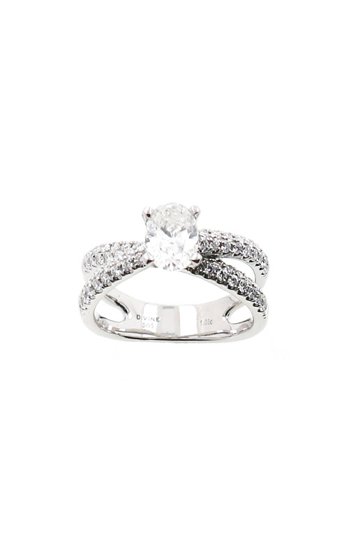 Albert's 14k White Gold 1.53ctw Oval Engagement Ring ER4256-O102B product image