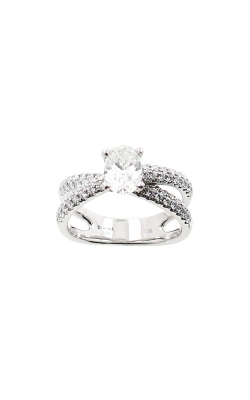 Albert's 14k White Gold 1.53ctw Oval Engagement Ring ER4256-O102B product image