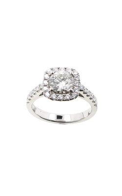 Albert's 14k 1.49ctw Round Diamond Halo Engagement Ring ER4382-R102A product image