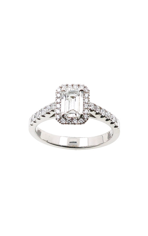Albert's 14k White Gold .96ctw Emerald Diamond Engagement Ring ER9040-E062B product image