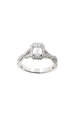 Albert's 14k White Gold .97ctw Emerald Diamond Engagement Ring ER9040-E062B-SP product image