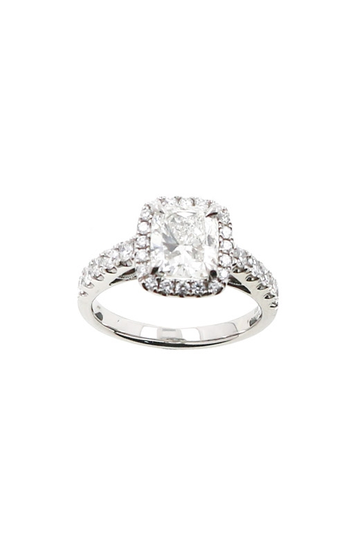 Albert's 14k White Gold 2.00ctw Cushion Halo Engagement Ring ER9044-C152A-S product image