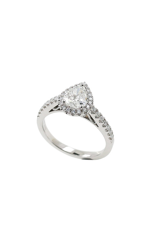 Albert's 14k White Gold 1.08ctw Pear Engagement Ring ER9138-0.72PS product image