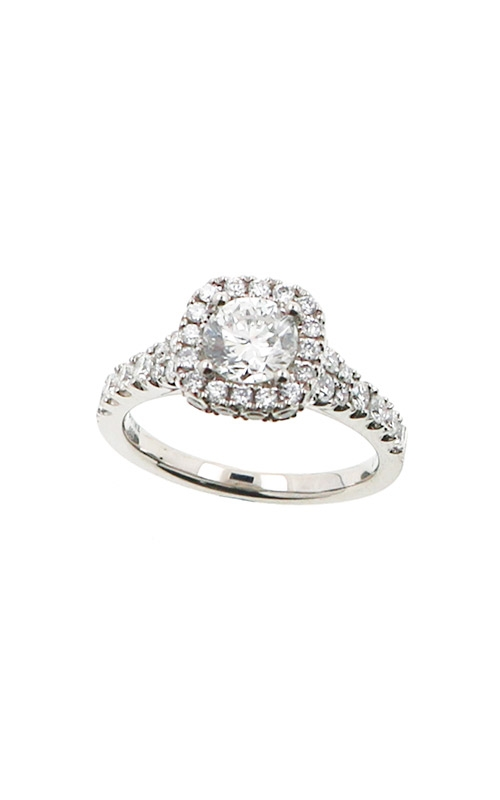 Albert's 14k White Gold 1.45ctw Round Diamond Engagement Ring ER9839-CR072A-S product image