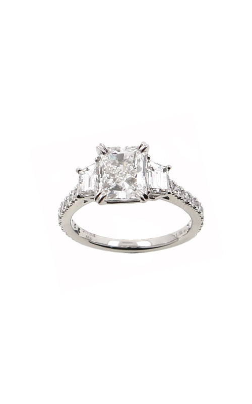 Albert's 14k White Gold 2.01ctw Radiant Engagement Ring ER9840-RA102A product image