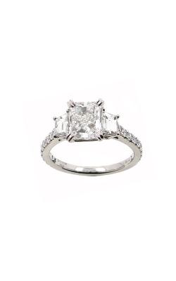 Albert's 14k White Gold 2.01ctw Radiant Engagement Ring ER9840-RA102A product image