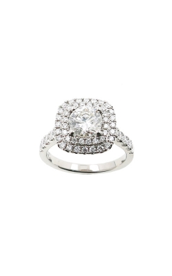 Albert's 14k White Gold 3.10ctw Round Diamond Halo Engagement Ring ER9852-R102A product image