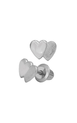 Albert's Sterling Silver Child Heart Earrings ES214 product image