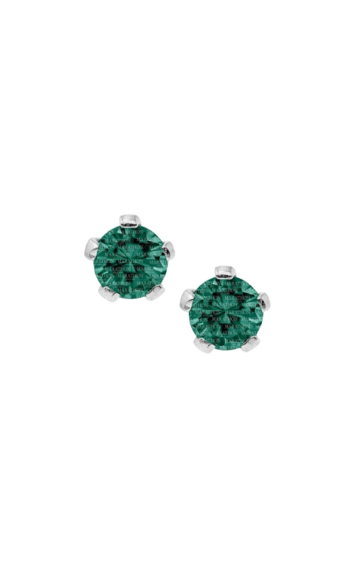 Albert's Sterling Silver Child 3mm Emerald Stud Earrings ES38505  product image