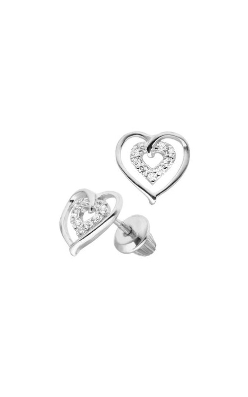 Albert's Sterling Silver Child Heart Stud Earrings ES415 product image