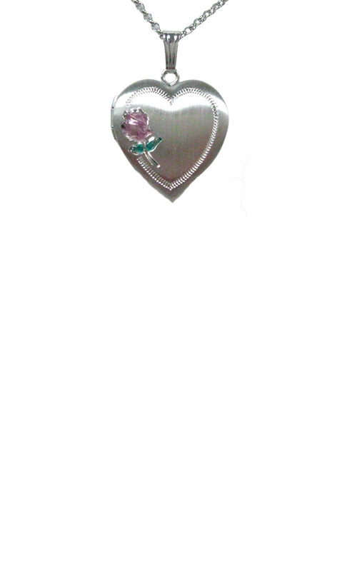 Albert's Sterling Silver Rose Locket Necklace  F1231 product image