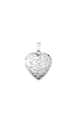 Albert's Sterling Silver Floral Locket Necklace F466 product image