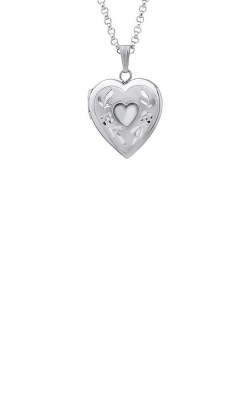 Albert's Sterling Silver Heart Locket F735 product image
