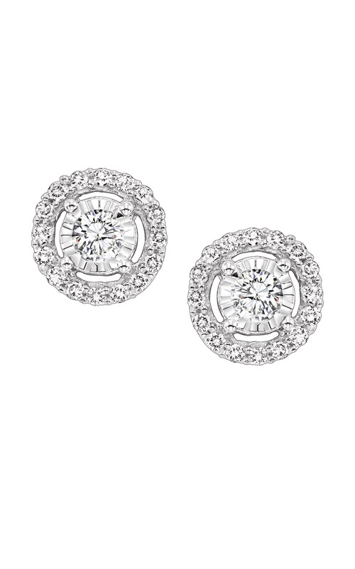 Albert's 14k White Gold 1/2ctw Diamond Halo Earrings FE4153-50 product image