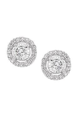 Albert's 14k White Gold 1/2ctw Diamond Halo Earrings FE4153-50 product image