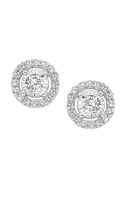 Albert's 14k White Gold 1/4ctw Diamond Halo Earrings FE4153-25 product image