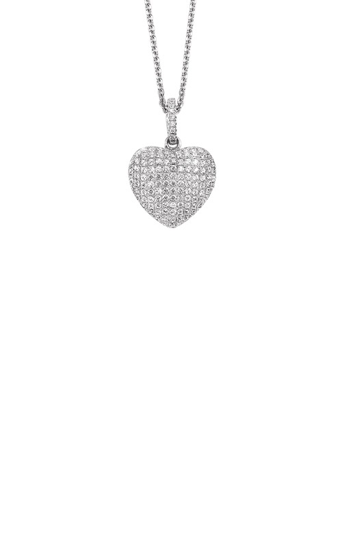 Albert's Sterling Silver CZ Heart Necklace FP1367 product image