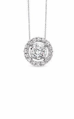 Albert's 14k White Gold 1/4ctw Diamond Halo Necklace product image