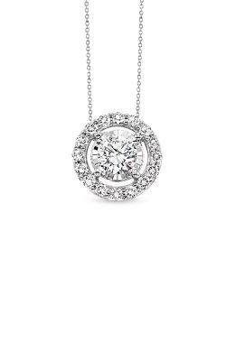 Albert's 14k White Gold 1/4ctw Diamond Halo Necklace product image