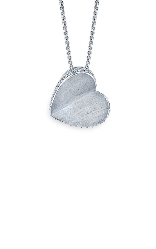 Albert's Sterling Silver 1/10ctw Diamond Heart Necklace FSPH4004TPKSS product image