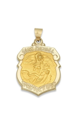 Albert's 14k Yellow Gold Saint Michael Charm M519HO product image