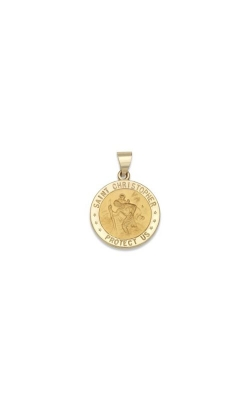 Albert's 14k Yellow Gold Saint Christopher Pendant M19HO product image