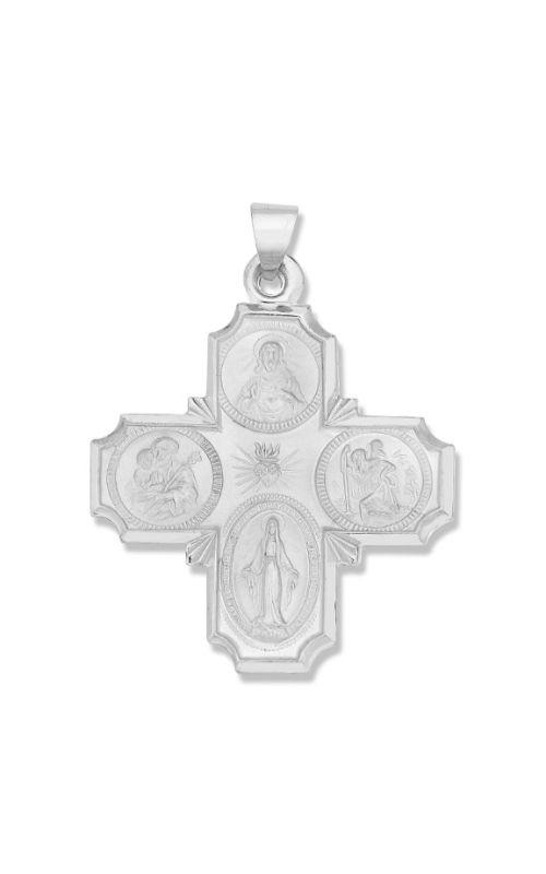 Albert's 14k White Gold Catholic Medal WM860 product image