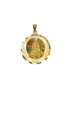 Albert's 14k Tri Tone 1.5 Inch Round Jesus Medal GCHAR13636 product image