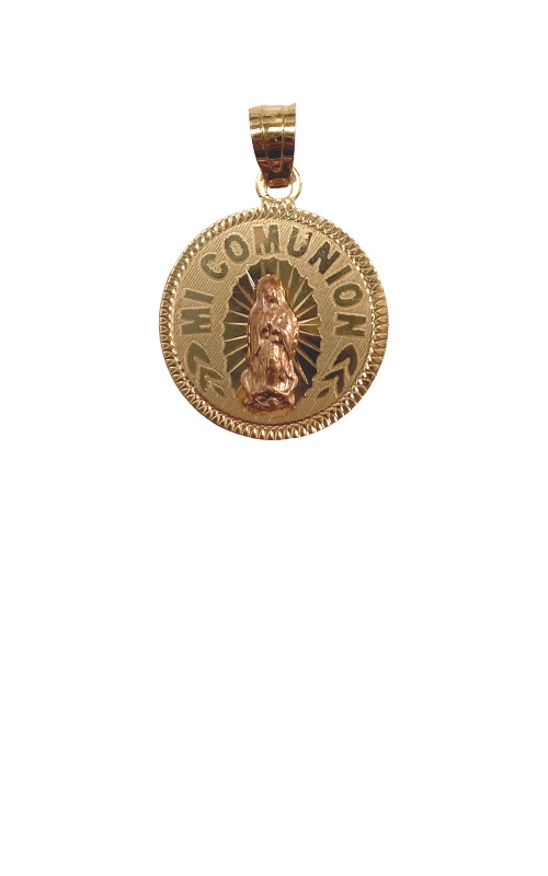 Albert's 14k Yellow and Rose Gold Mi Comunion Guadalupe Pendant GCHAR13881 product image