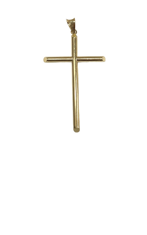 Albert's 14k Yellow Gold 2 inch Light Cross Pendant GCHAR13888 product image