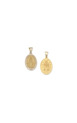 Albert's 14k Yellow Gold Miraculous Medal M22HO product image