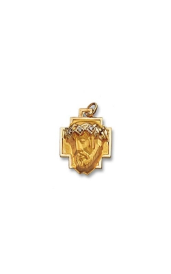 Albert's 14k Yellow Gold Head Of Christ Pendant CH61 product image