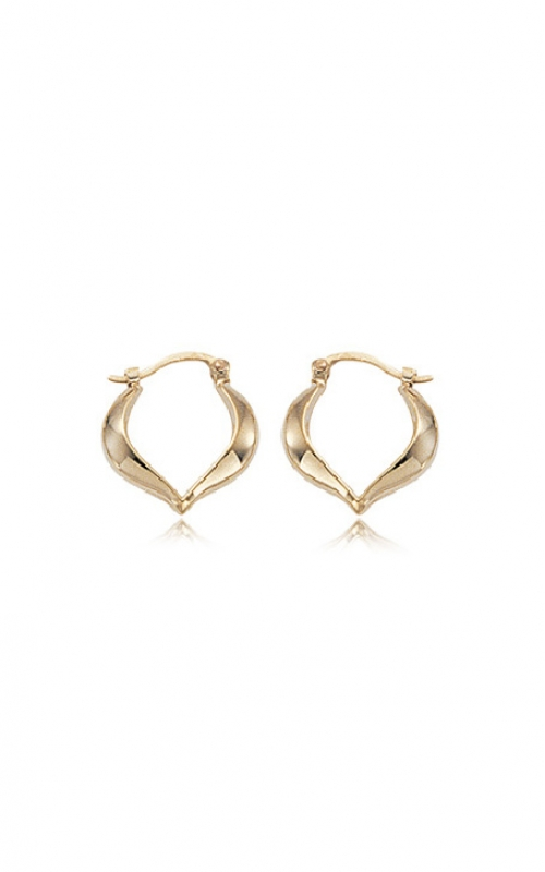 Albert's 14k Yellow Gold Heart Shaped Hoop Earrings 04/025 product image
