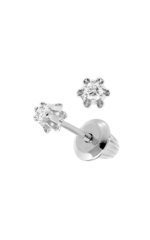 Albert's 14k White Gold Diamond Child Stud Earrings GEW293 product image