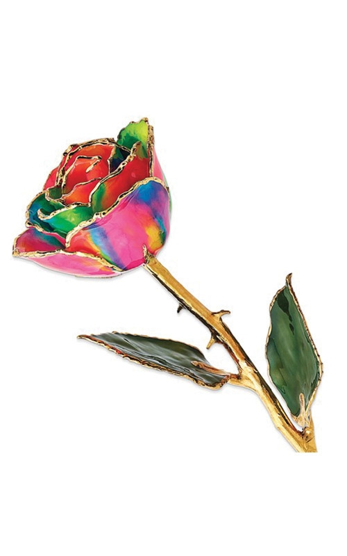 Albert's Gold Dipped Neon Rainbow Rose GM10615 product image