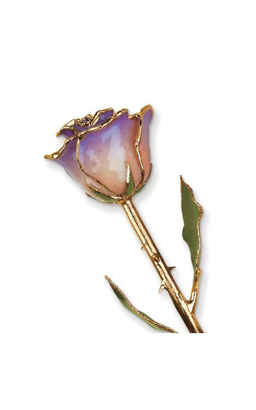 Albert's Gold Dipped White and Blue Opal Rose GM3735 product image