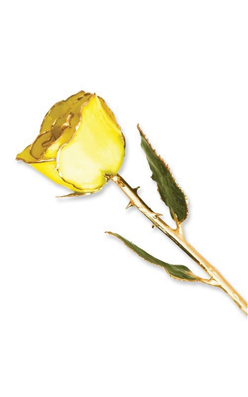 Lacquer Dipped Gold Trim Yellow Rose GP9336 product image