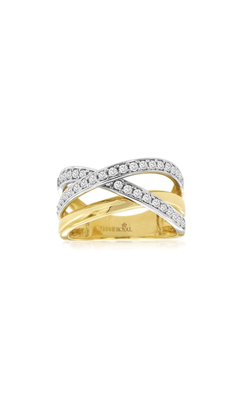 Albert's 14k White and Yellow Gold Diamond Ring H1077D product image
