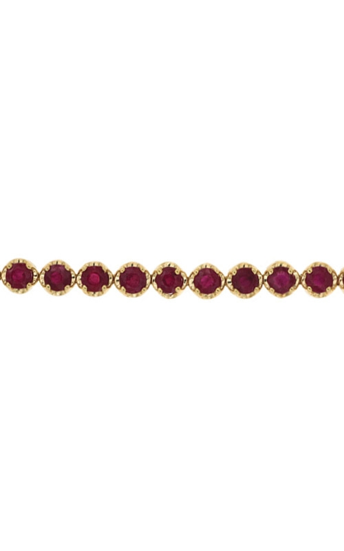 Albert's 14k Yellow Gold 6ctw Round Ruby Bracelet H1137RB product image