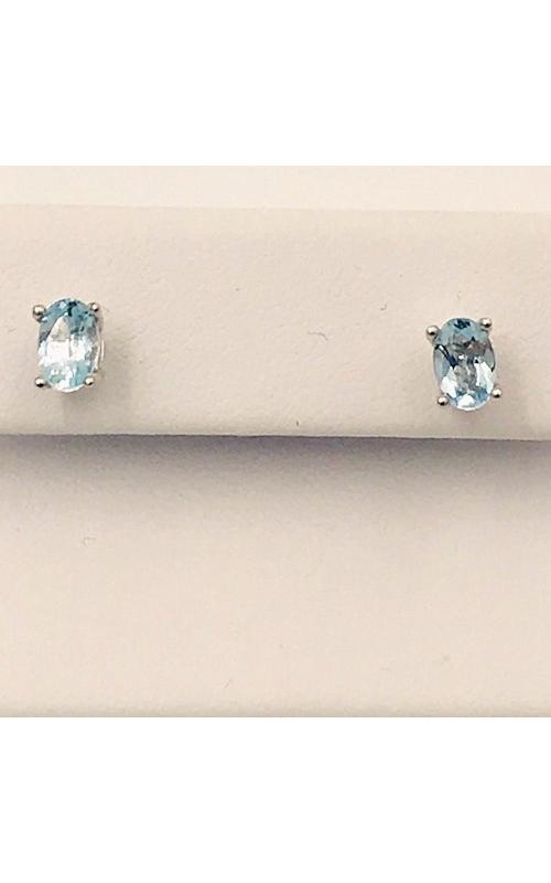 14k WG Aquamarine Stud Earrings product image