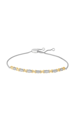 Albert's 10k Silver And Gold Diamond Bracelet JN8201 product image