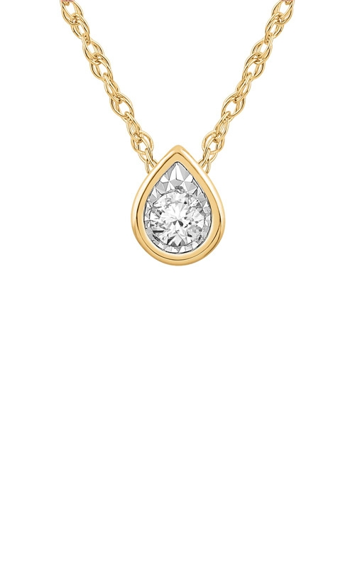 Albert's 10k Yellow Gold Diamond Necklace JN9151 product image