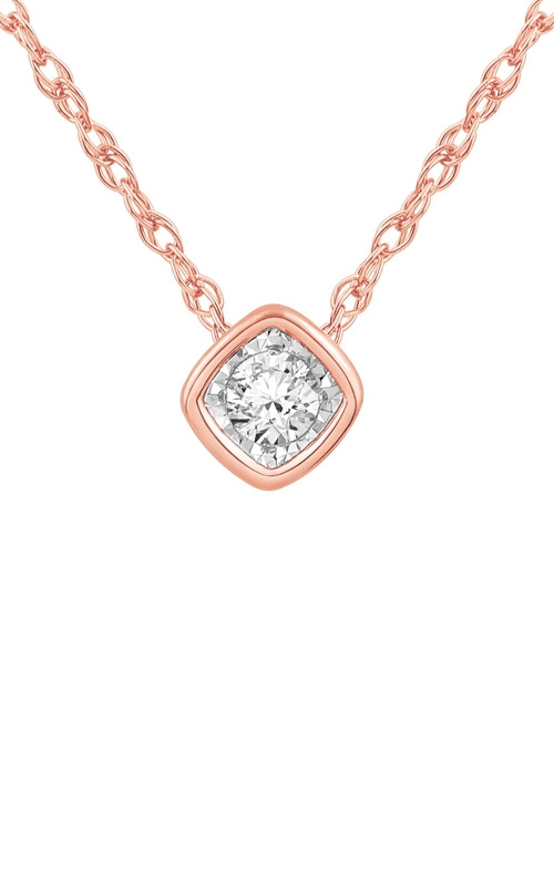 Albert's 10k Rose Gold Diamond Necklace JN9157 product image