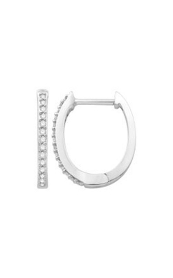 Albert's 10k White Gold 0.10ctw Diamond Hoop Earrings JX8407 product image