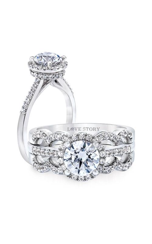 Alberts Engagement Ring L8451-WGE product image