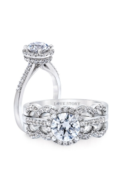 Alberts Engagement Ring L8451-WGE product image