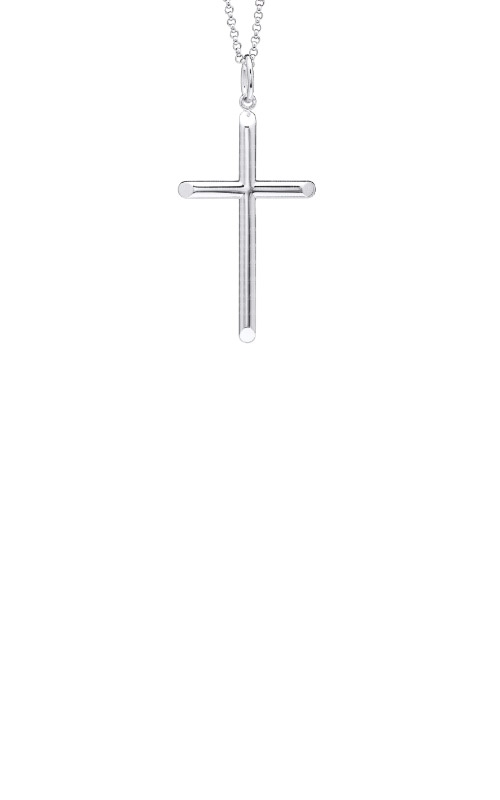 Albert's Sterling Silver Cross Necklace MC108 product image