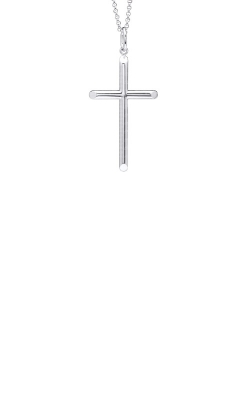 Alberts Sterling Silver Cross Necklace MC108